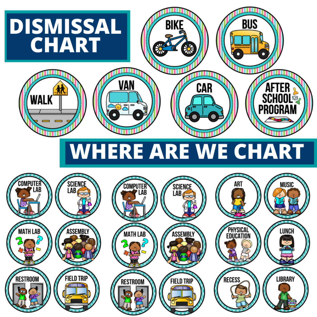 garden theme editable dismissal chart for elementary classrooms with for better classroom
