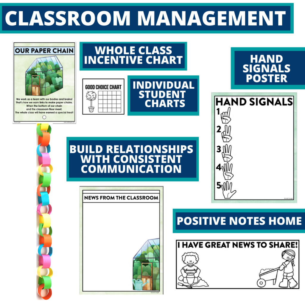 garden themed tools for improving student behavior in an elementary classroom