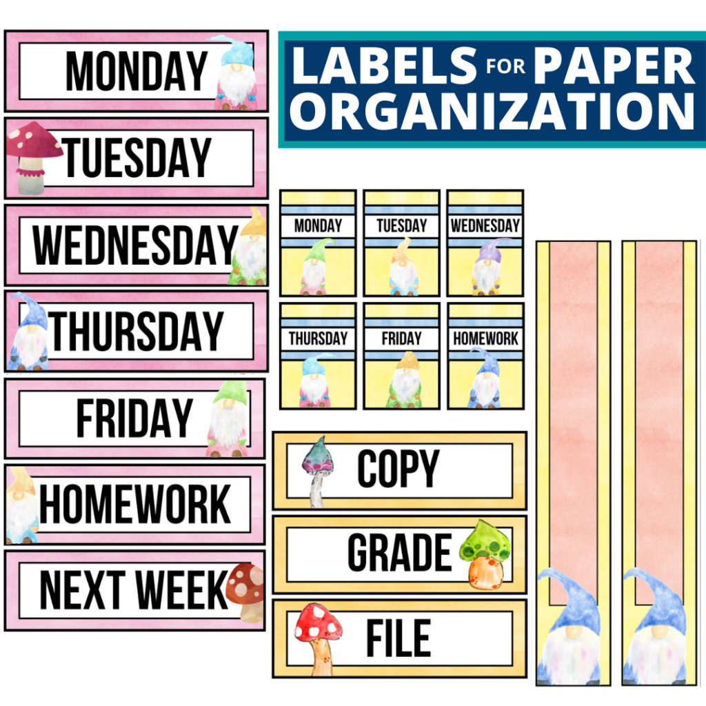 gnome theme labels for paper organization in the classroom