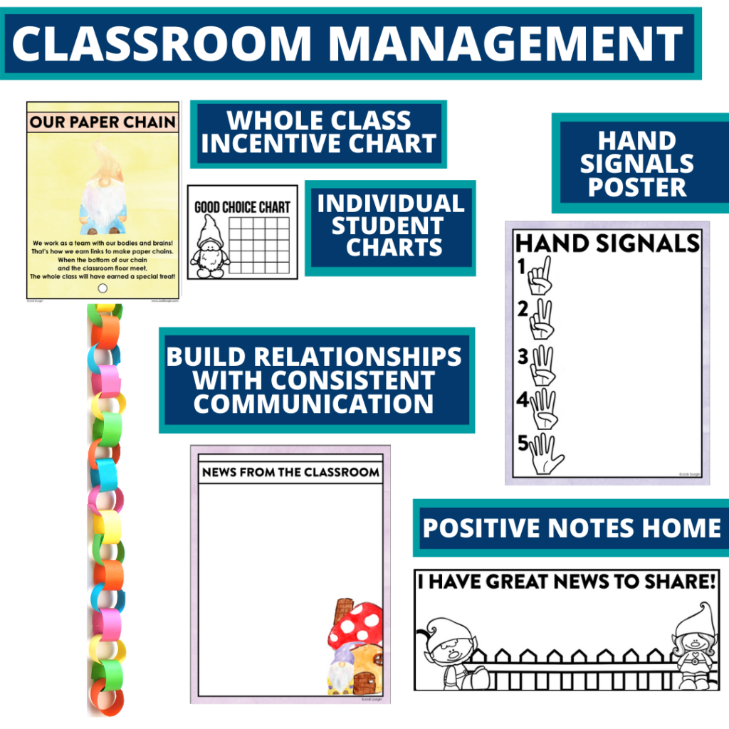gnome themed tools for improving student behavior in an elementary classroom