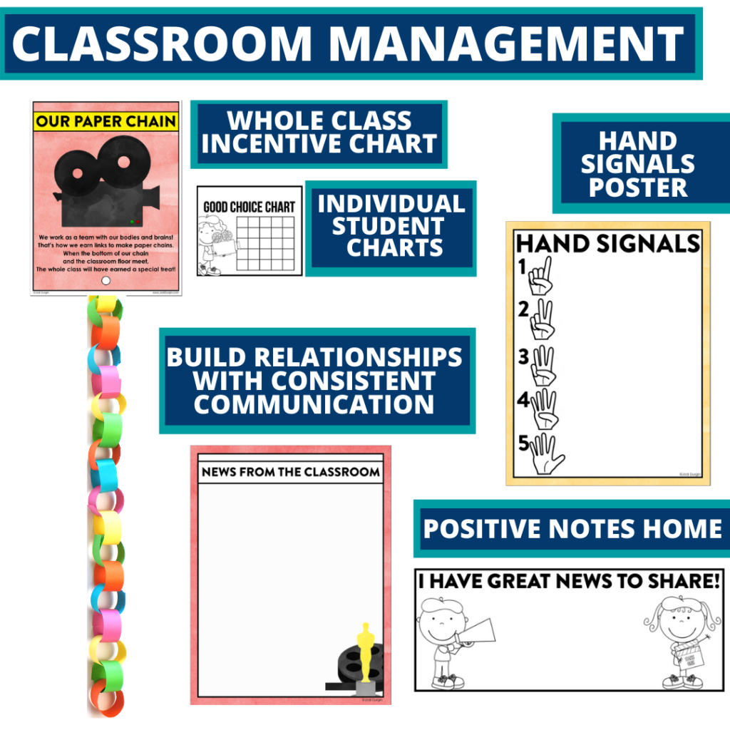 hollywood themed tools for improving student behavior in an elementary classroom