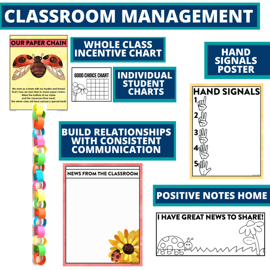 ladybug themed tools for improving student behavior in an elementary classroom
