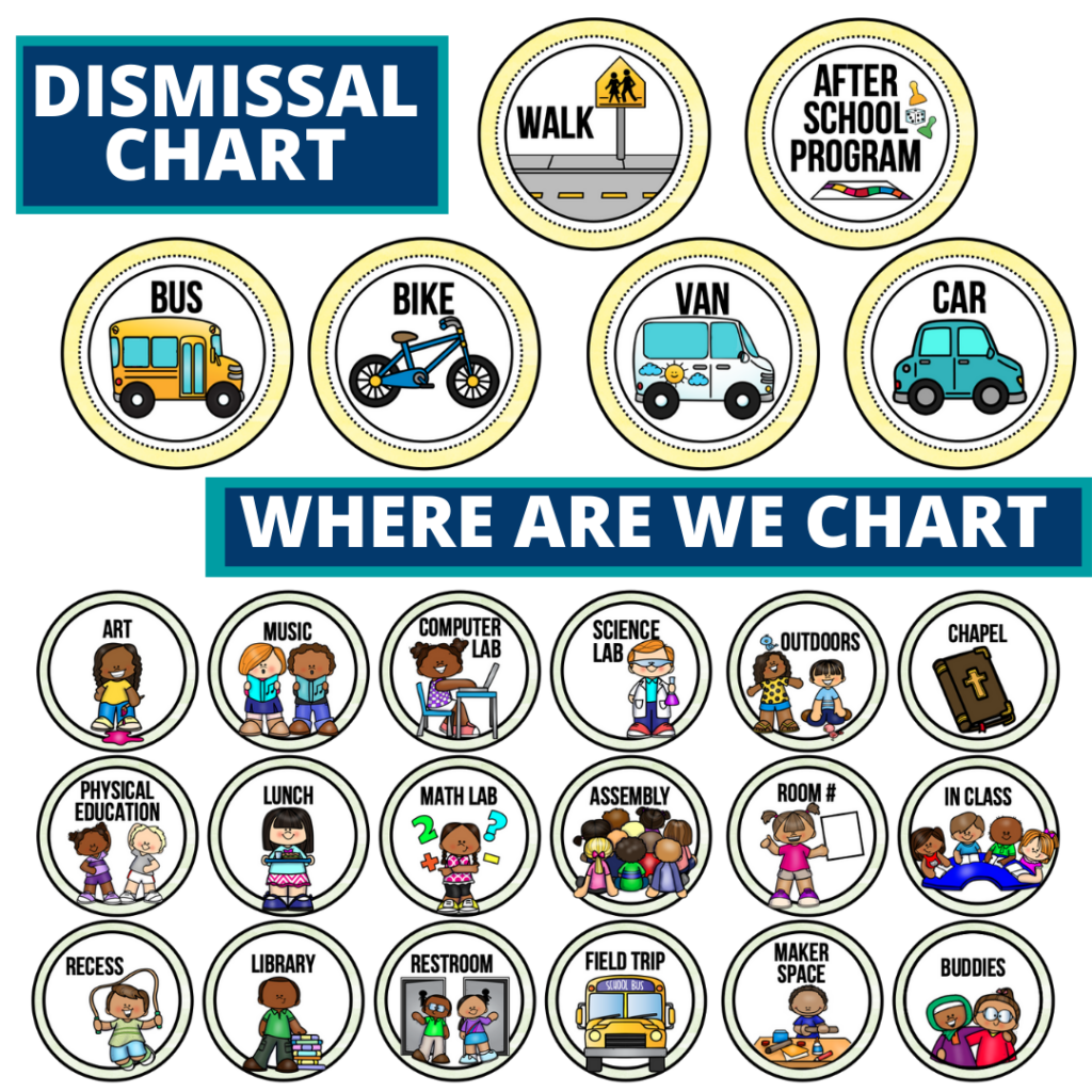 lemons theme editable dismissal chart for elementary classrooms with for better classroom