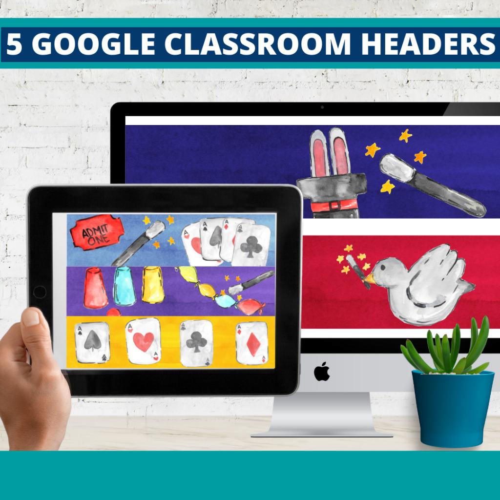 magic classroom themed google classroom headers and google classroom banners