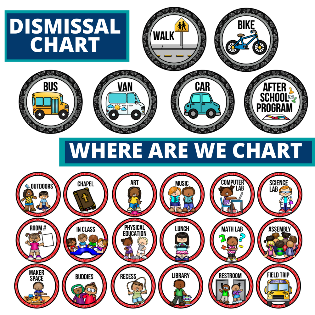 magic theme editable dismissal chart for elementary classrooms with for better classroom