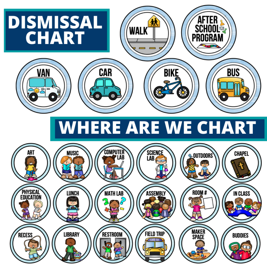mermaid theme editable dismissal chart for elementary classrooms with for better classroom