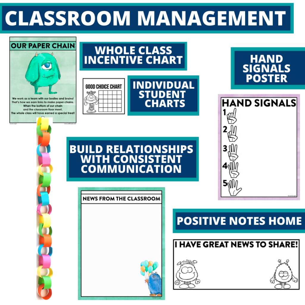 monster themed tools for improving student behavior in an elementary classroom