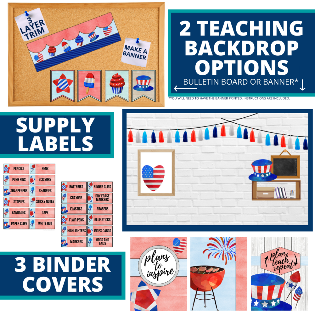 patriotic themed background for a cheap and easy online teaching or a VIP kid backdrop