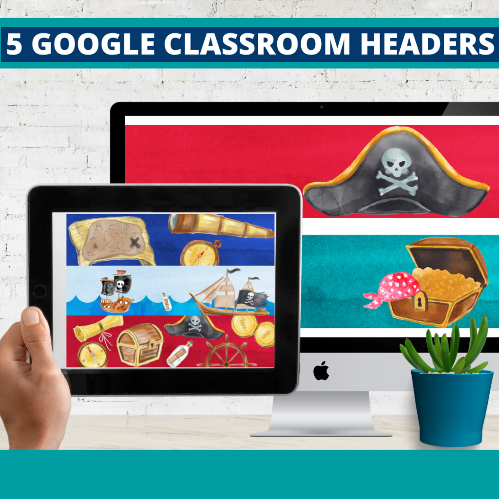 pirates classroom themed google classroom headers and google classroom banners