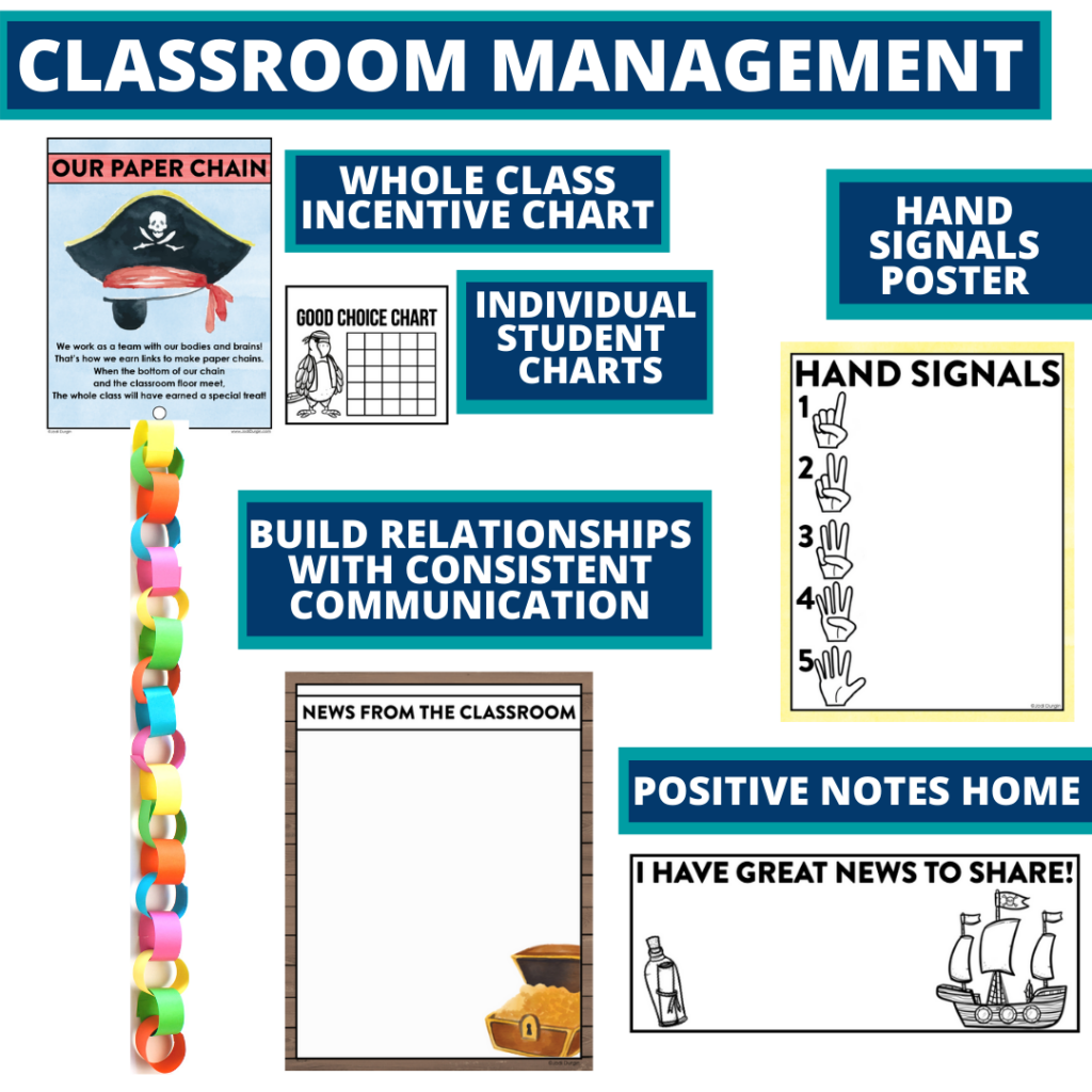 pirates themed tools for improving student behavior in an elementary classroom