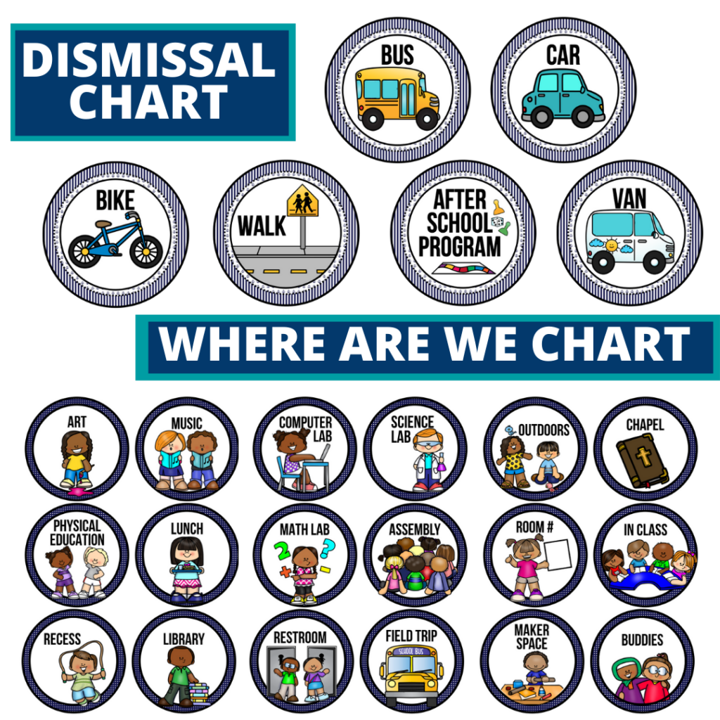 nautical theme editable dismissal chart for elementary classrooms with for better classroom
