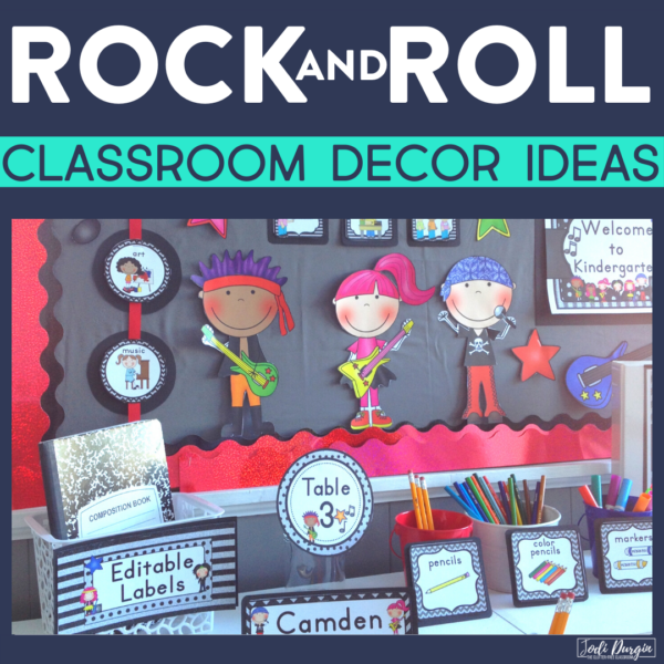 rock and roll classroom decor ideas