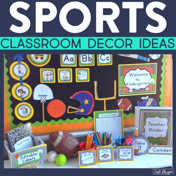 sports classroom decor ideas