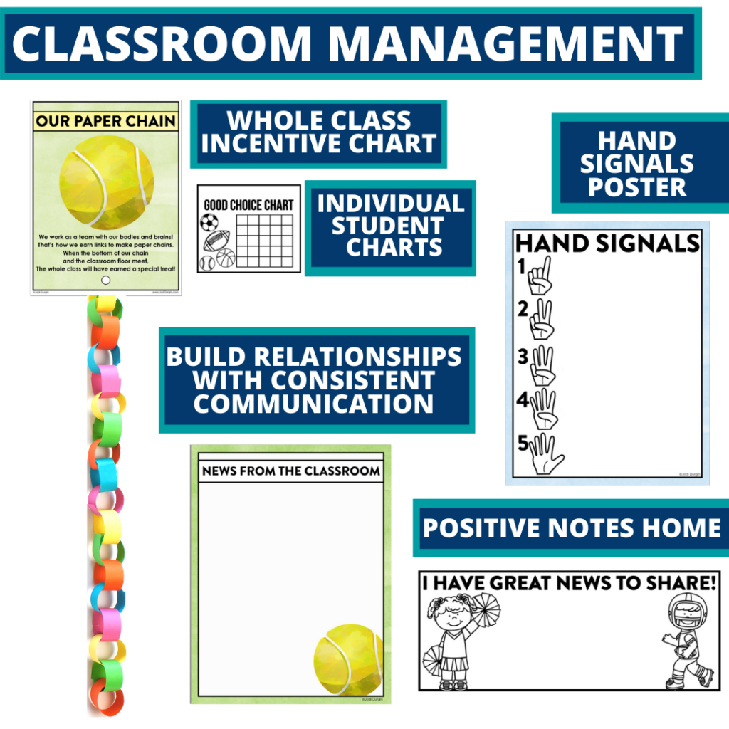 sports themed tools for improving student behavior in an elementary classroom