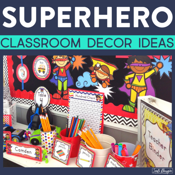 superhero classroom decor ideas