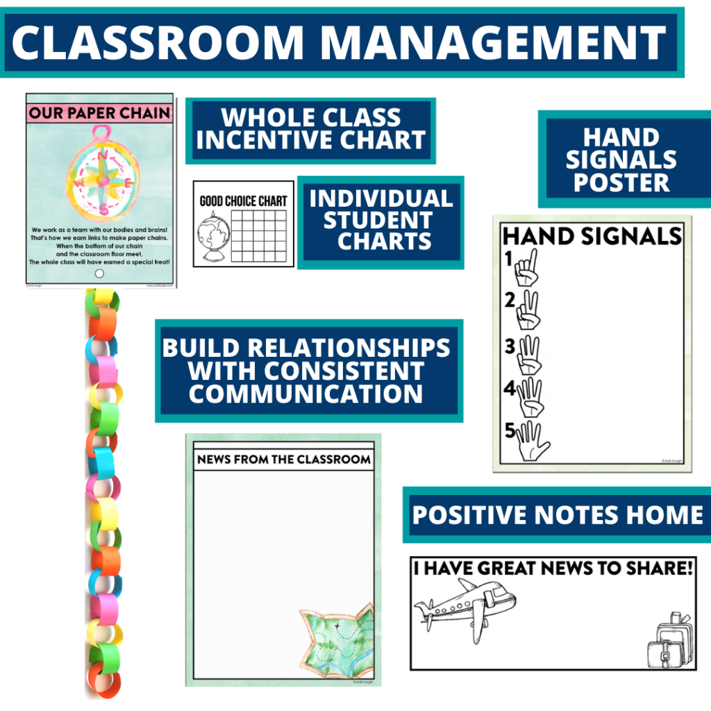 travel themed tools for improving student behavior in an elementary classroom