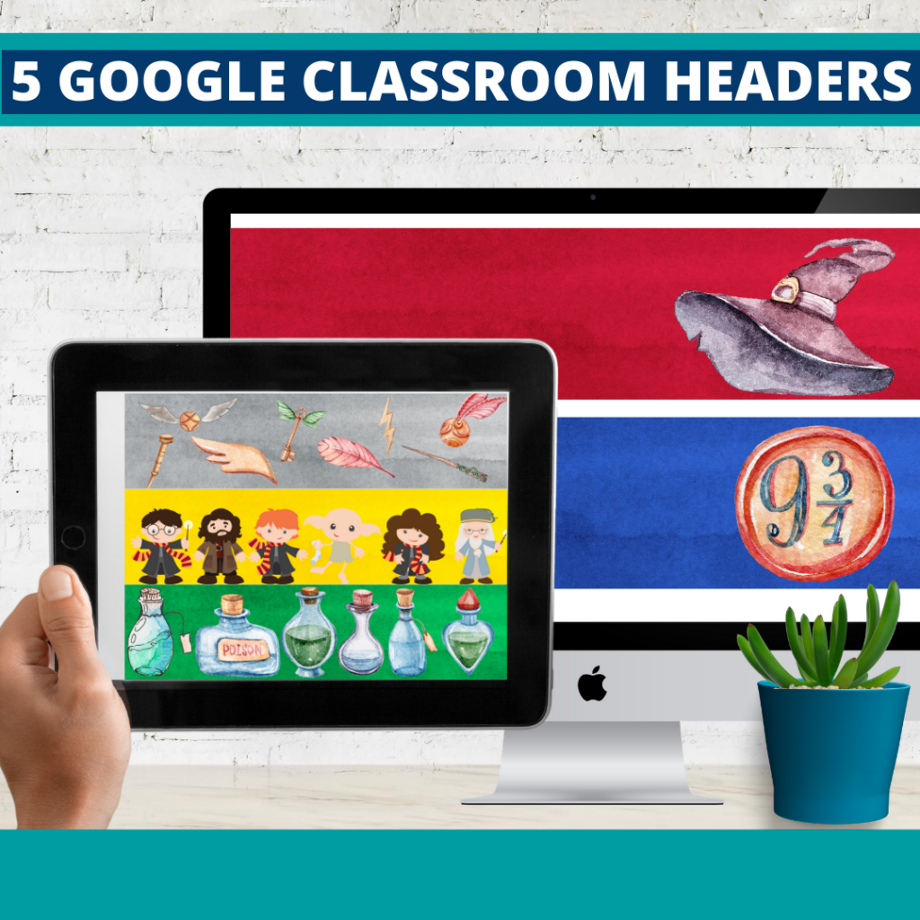 wizard classroom themed google classroom headers and google classroom banners