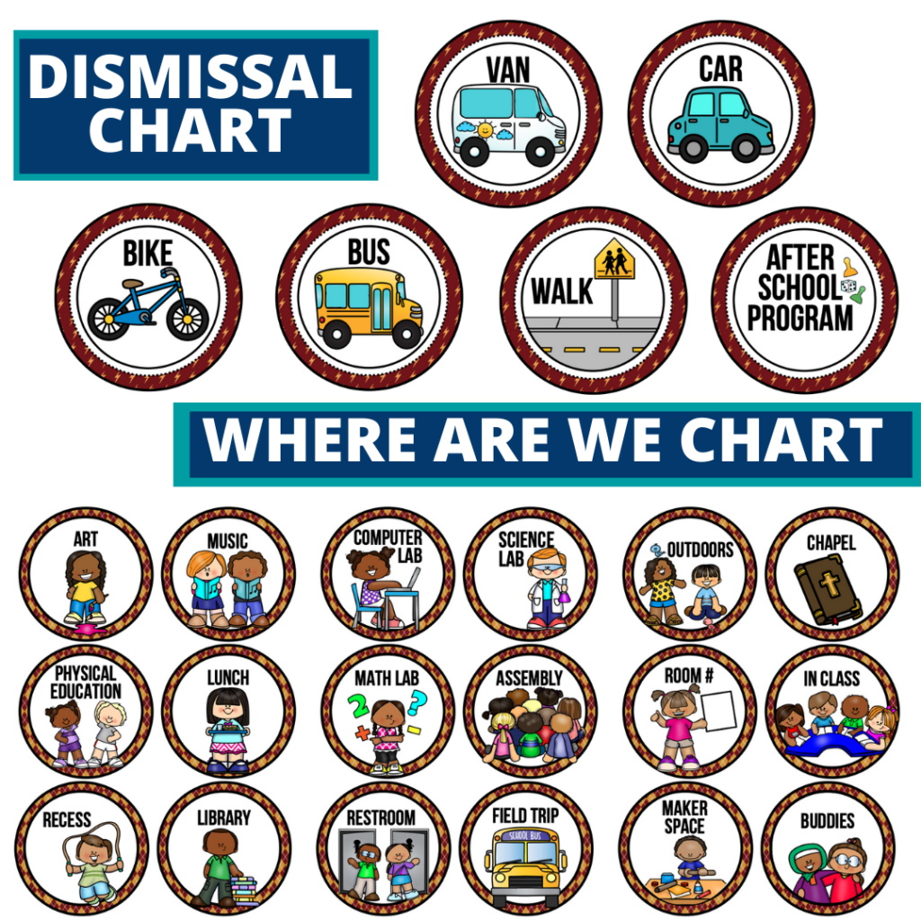 wizard theme editable dismissal chart for elementary classrooms with for better classroom