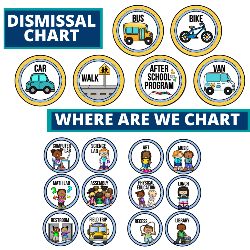 wizard of oz theme editable dismissal chart for elementary classrooms with for better classroom