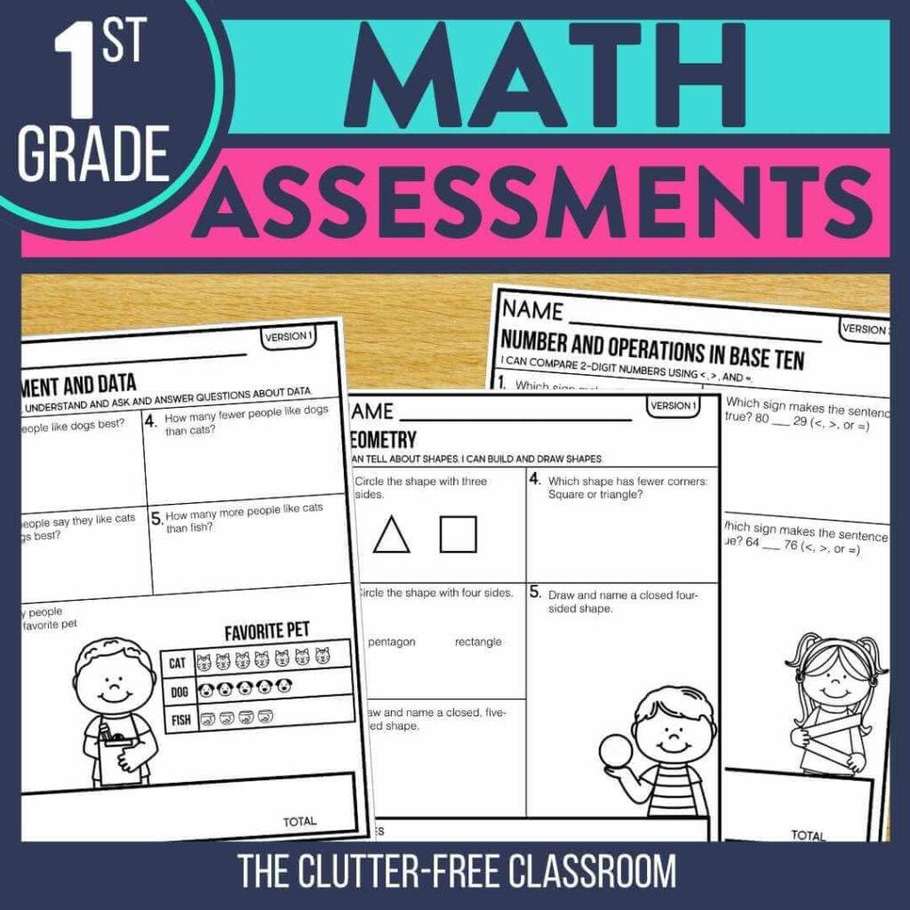 1st grade benchmark assessment tests for math standards