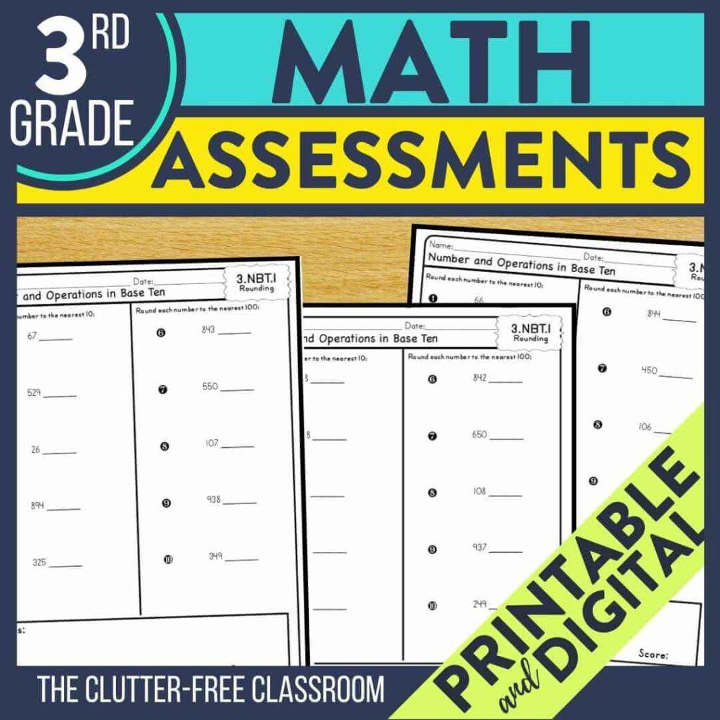 3rd grade benchmark assessment tests for math standards
