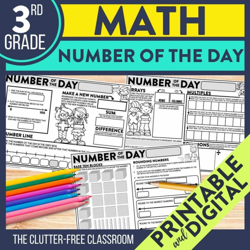 3rd grade number of the day worksheets