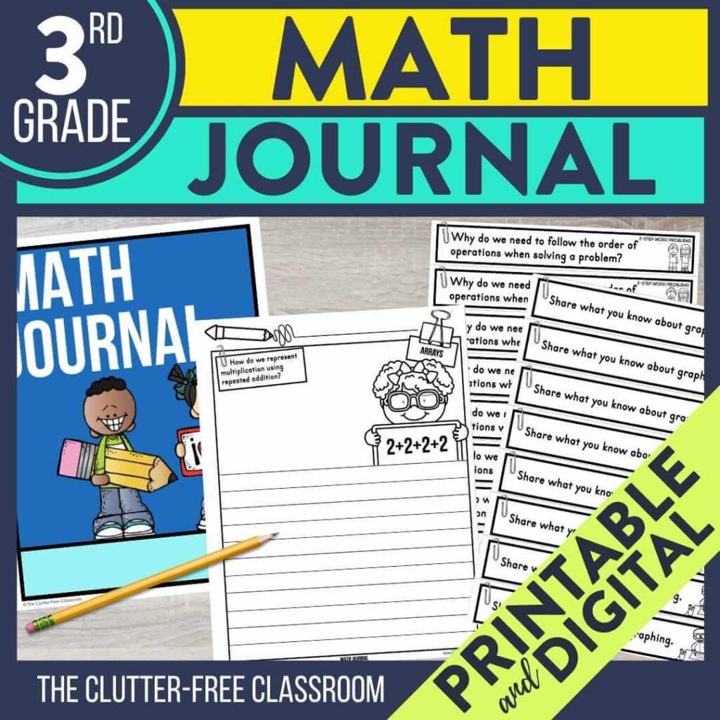 3rd grade math notebook journal prompts