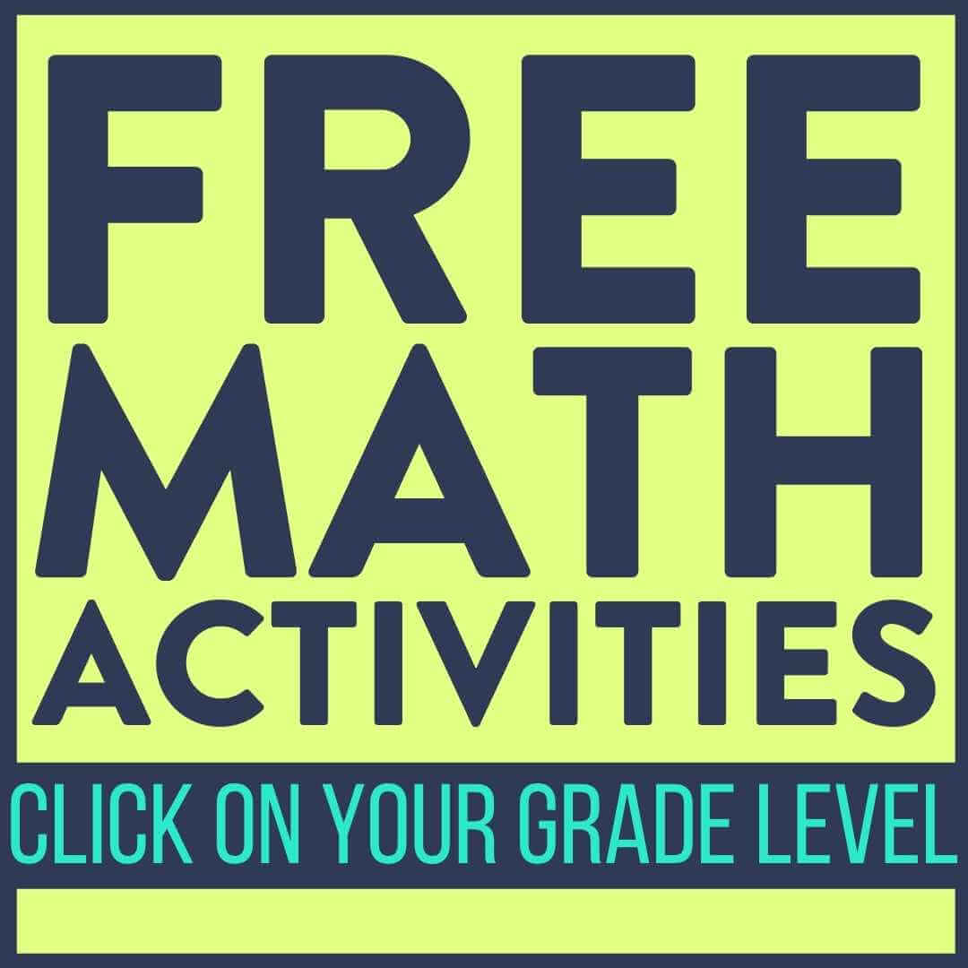 free math worksheet button for elementary teachers