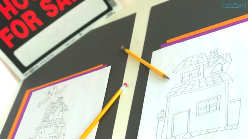 haunted house art project examples
