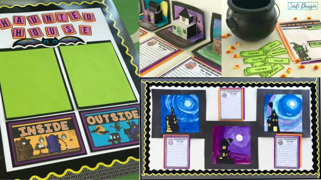 collage of Haunted House for Sale activities