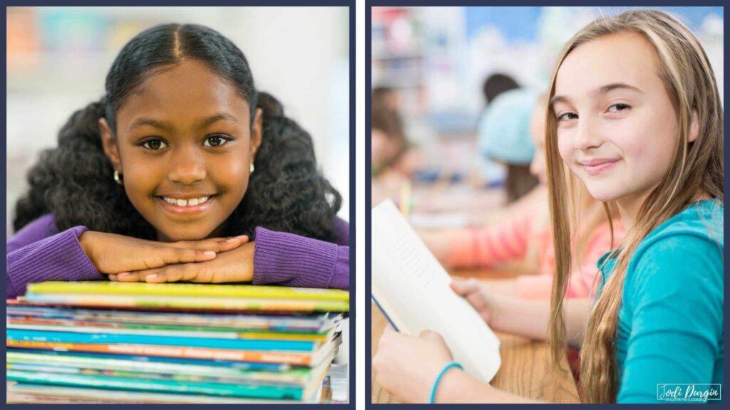 elementary students reading math literature