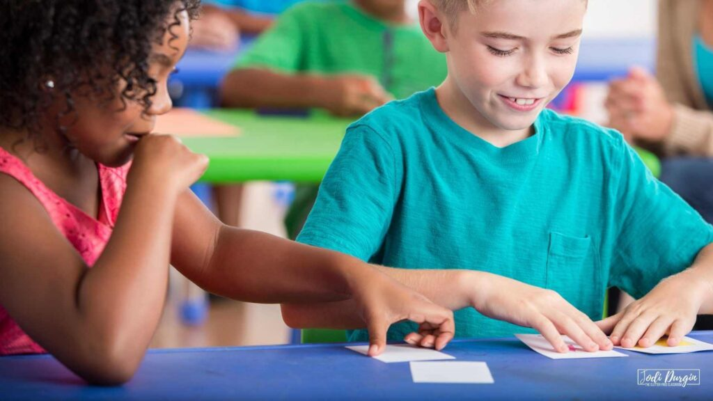 math sorting activities in an elementary classroom