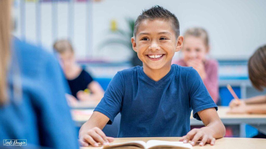 elementary student reading math story books