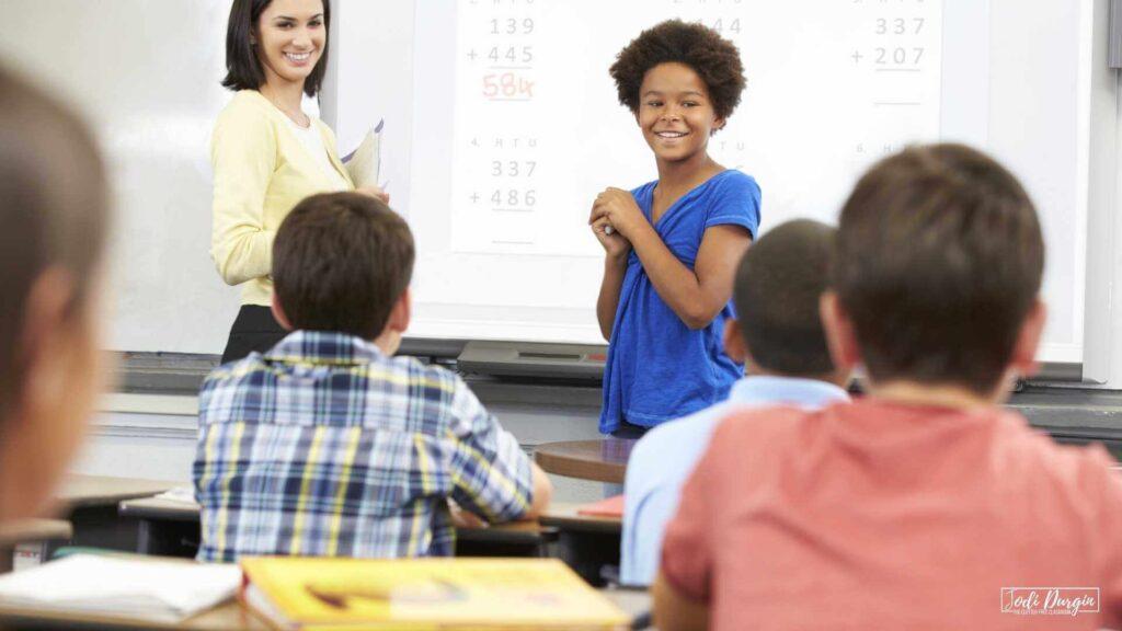 math talk in an upper elementary classroom