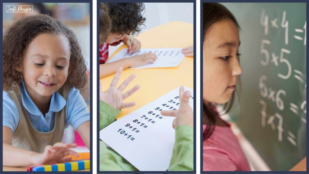 vertical alignment of math in elementary students