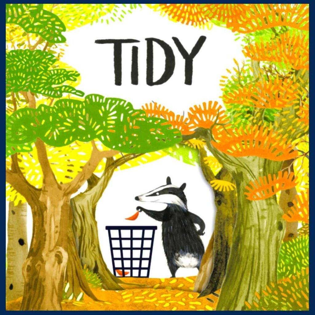 Earth Day story, Tidy's book cover