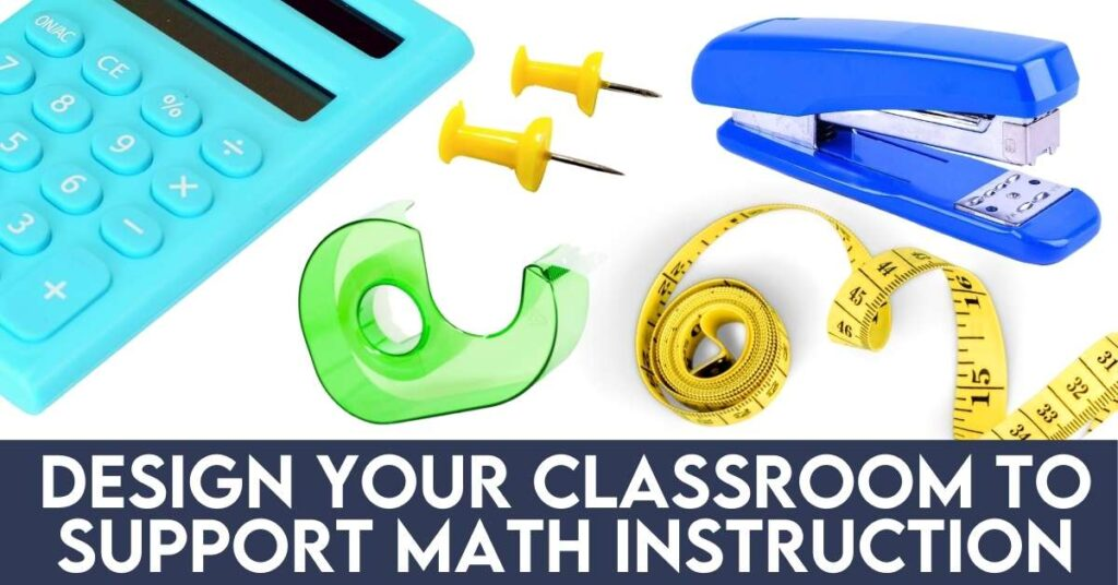 colorful assortment of math tools and supplies
