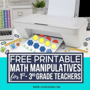 printer printing paper math manipulatives