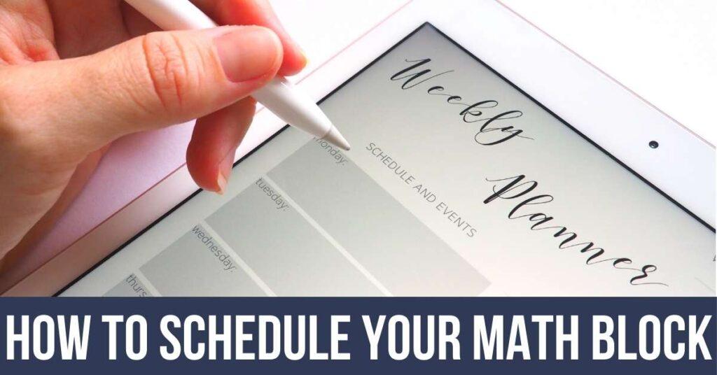 digital planner on a tablet