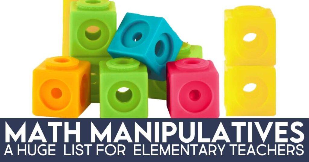 colorful linking cube math manipulatives