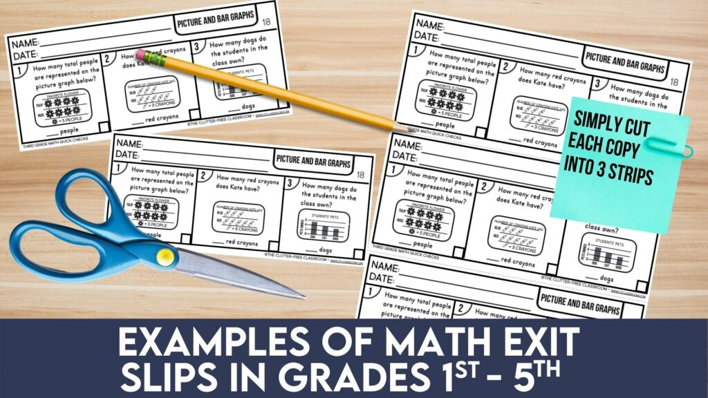 math exit slips for 2nd grade