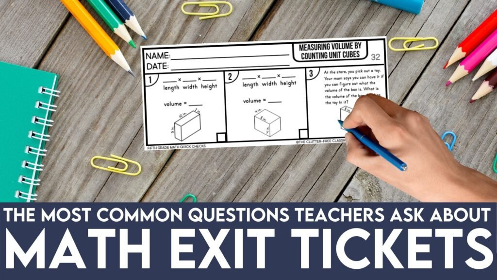 example of a math exit slip template in a 3rd grade classroom