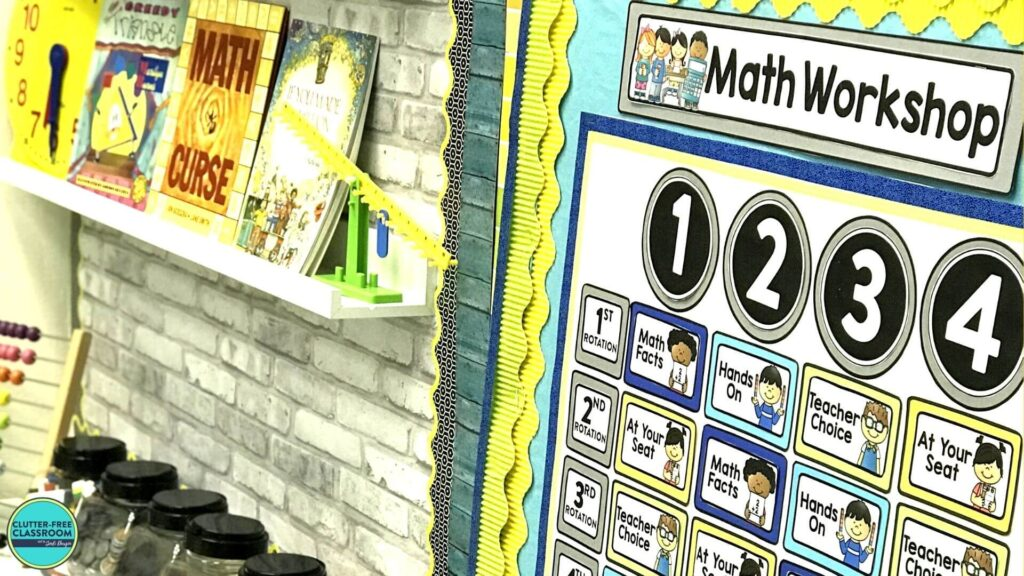 guided math workshop station rotation chart