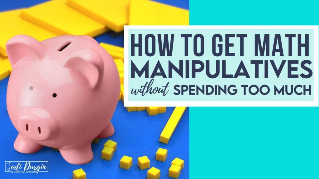 piggy bank with math manipulatives