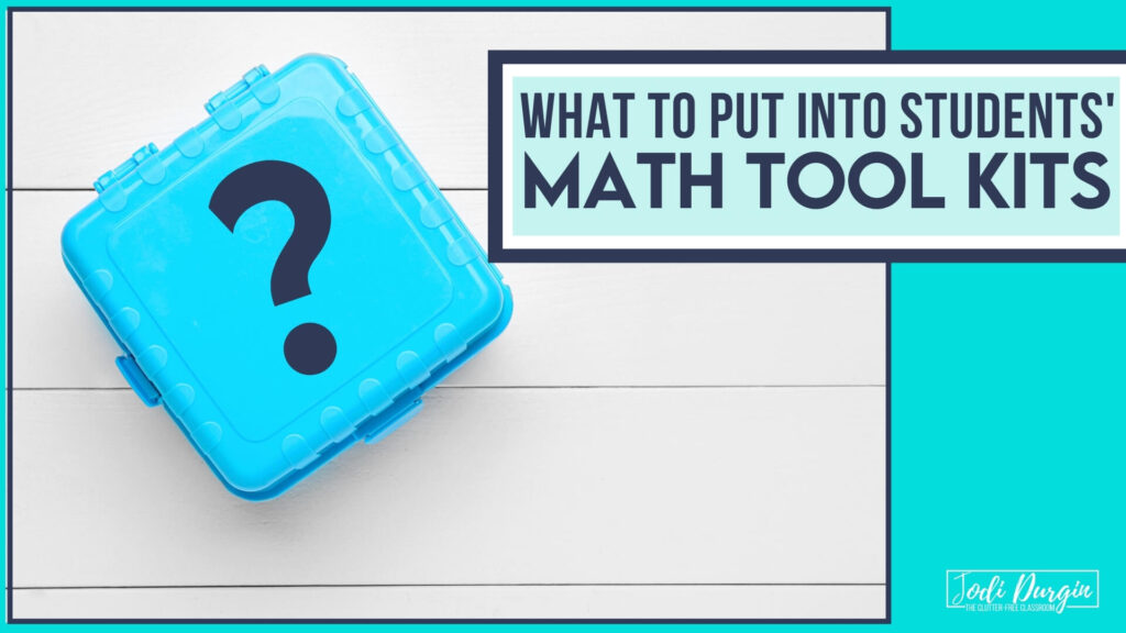 what to put into a math toolkit for students