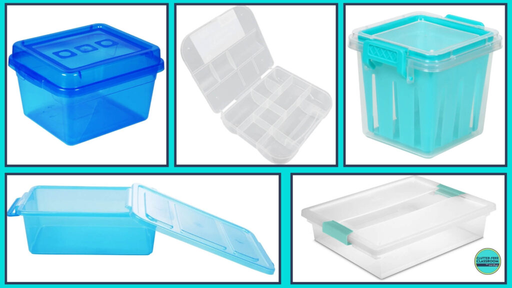 storage containers for math manipulatives