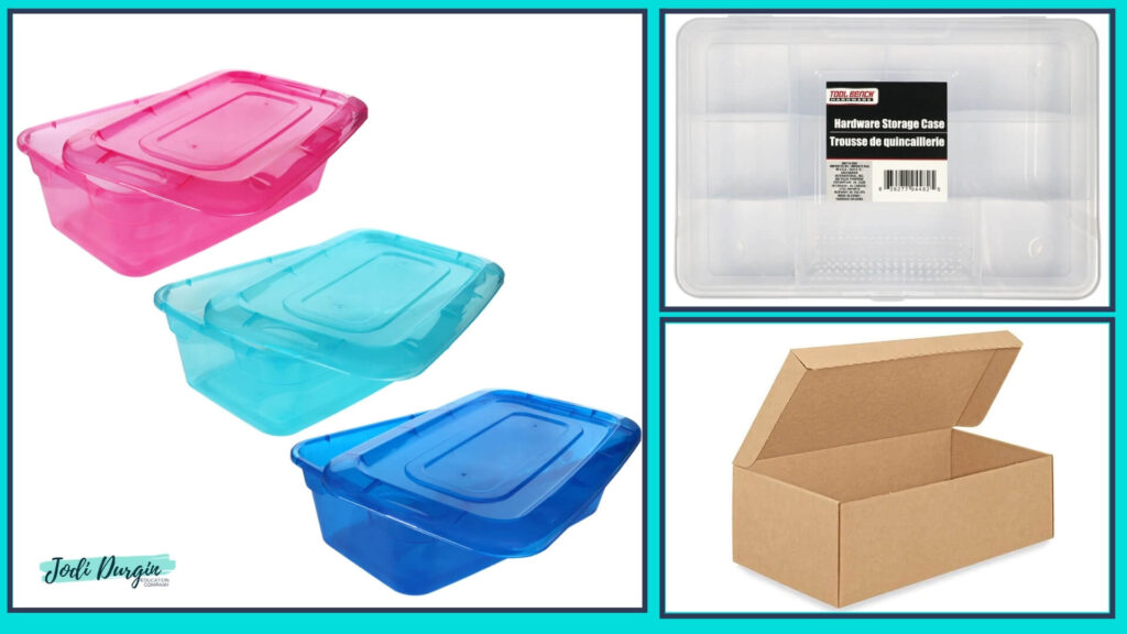 individual student math toolkit containers