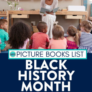 kids listening to a black history month read aloud
