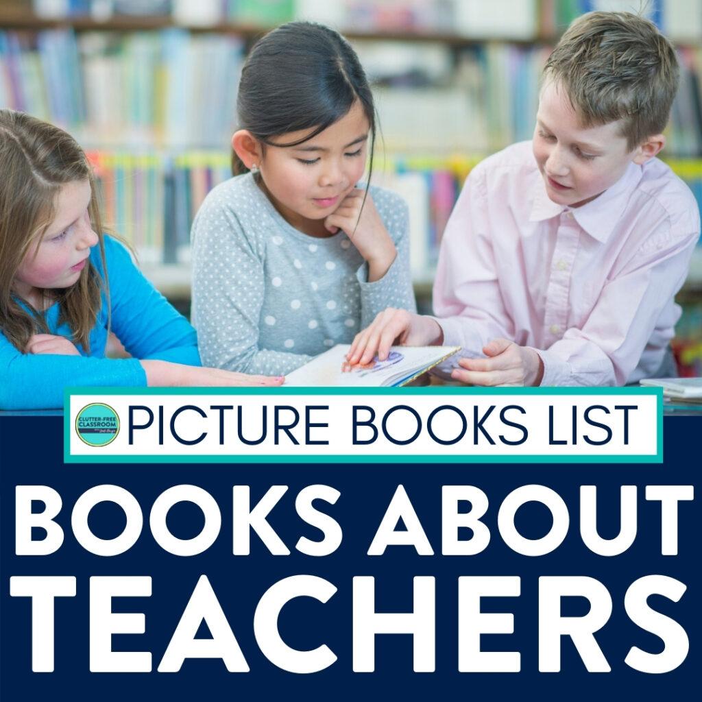 kids reading books about teachers