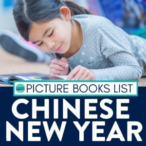 student reading Chinese New Year book